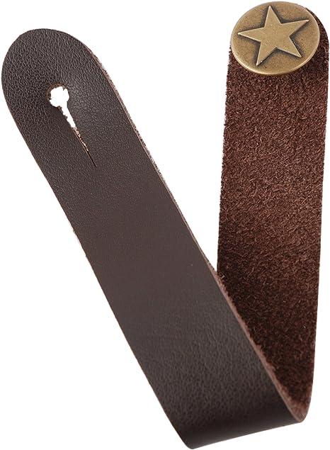 Correa Fretfunk con botón para guitarra acústica, color marrón ...