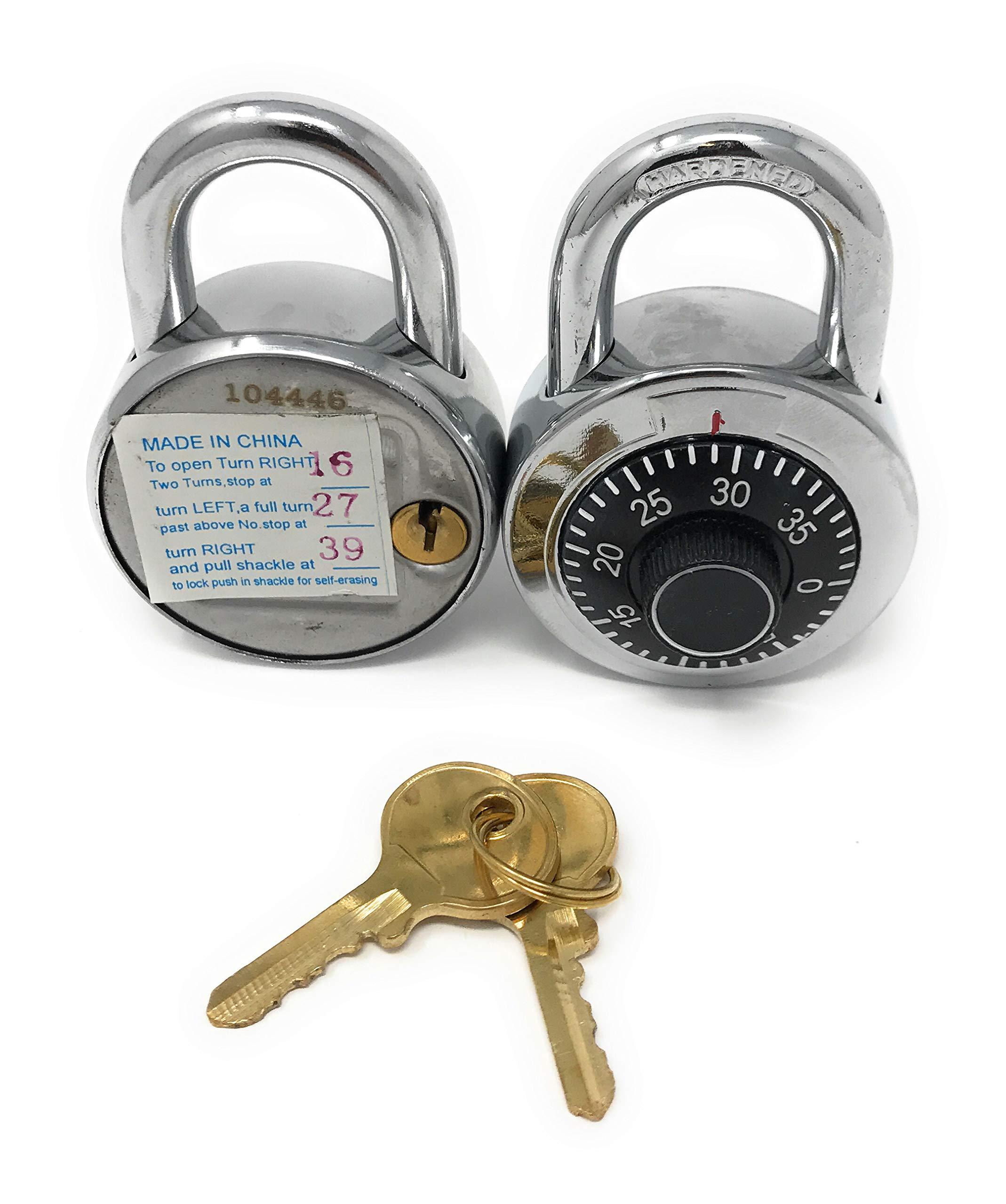 Combination Locks with Single Override Control Key Padlocks Ideal for Lockers [946-10] - Set of 10 Candados de Combinacion by Madol (Image #2)