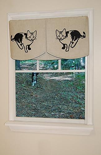 Curtain Chic Faithful Companions Banner Valance Set, Kitty Kitty