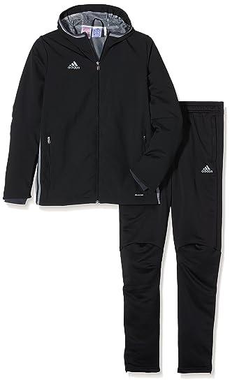 f673edf73f15 adidas Children s Tracksuit CONDIVO16 Black Jacke  black dark grey Vista  grey  Hose