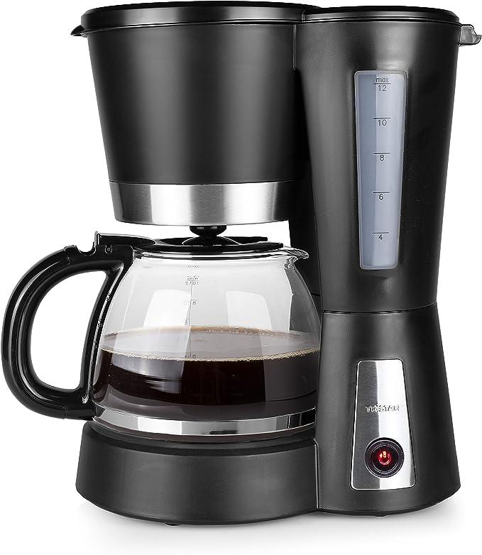 Tristar CM-1236 Cafetera Eléctrica, 900 W, 1.2 litros, Negro, Acero inoxidable: Amazon.es: Hogar
