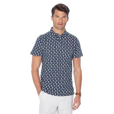 febd4fb42a9ec J by Jasper Conran Men Royal Blue Abstract Print Polo Shirt M  J by Jasper  Conran  Amazon.co.uk  Clothing
