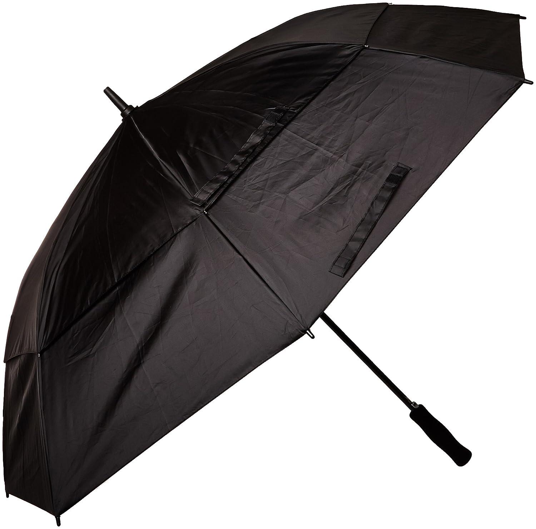 e3c61aa23b6f Totesport Automatic Vented Canopy Stick Umbrella, Black, One Size
