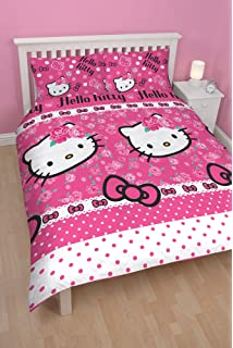 Hello Kitty Kite Pink Duvet Cover Bedding Set Cotton 100