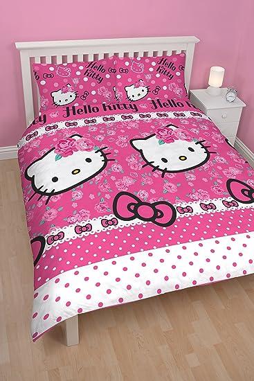 Piumone Hello Kitty 1 Piazza E Mezza.Character World Hello Kitty Set Copripiumino Sommer Amazon It Casa