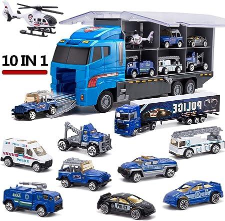 Set de Coches de Transporte Está diseñado de un camión grande que contiene diferente mini coche mode