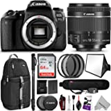 Canon EOS 77D DSLR Camera with 18-55mm Lens w/Advanced Photo and Travel Bundle