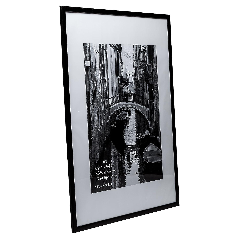 pawfa1bblk matt schwarz Holz A1 (59,4 x 84 cm) Zertifikat Foto ...