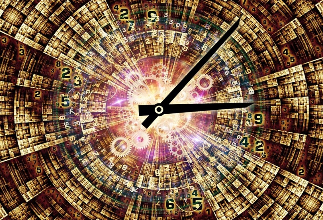 CSFOTO 7x5ft Background for Number Domain Time Travel Photography Backdrop Time Shuttle Amount Watch Moment Concept Information Technology hours Clockwork Photo Studio Props Polyester Wallpaper