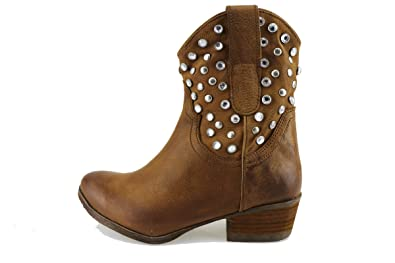 1dd19f7ff3c MANAS Bottines Femme Cuir Marron 36 EU  Amazon.fr  Chaussures et Sacs