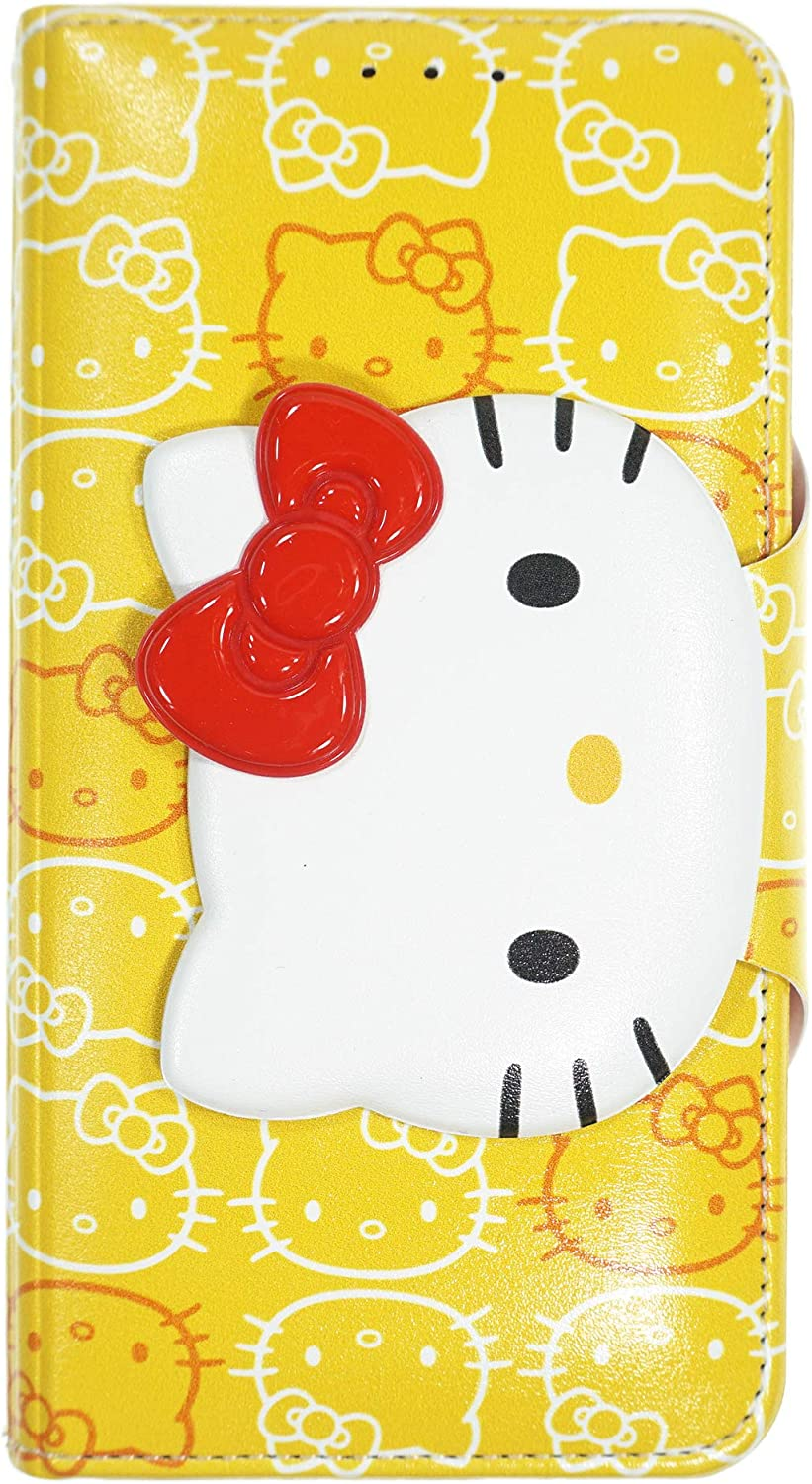 iPhone 11 Pro Max Case Hello Kitty Cute Diary Wallet Flip [ iPhone 11 Pro Max (6.5inch) ] Case - Button Face Yellow