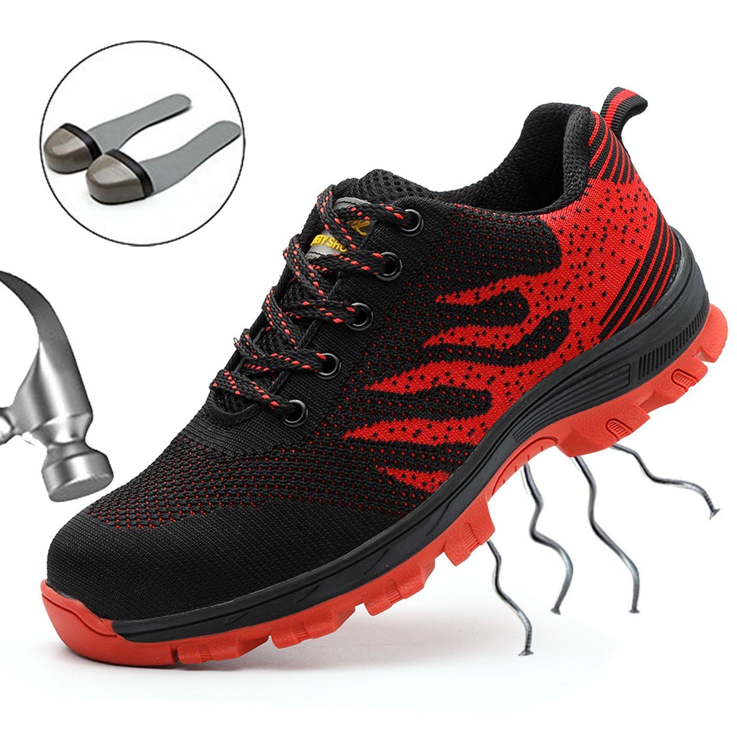 SUADEEX Steel Toe Shoes Men, Work Shoes, Safety Shoes, Steel Toe Boots for Men