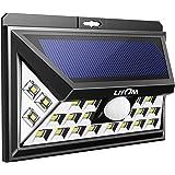 Litom ソーラーライト 24LEDメッキ 人感センサー搭載表玄関/パーク/ポスト/ガーデン/縁側/ガレージ/パルコニー/庭などに屋外照明(改良版)