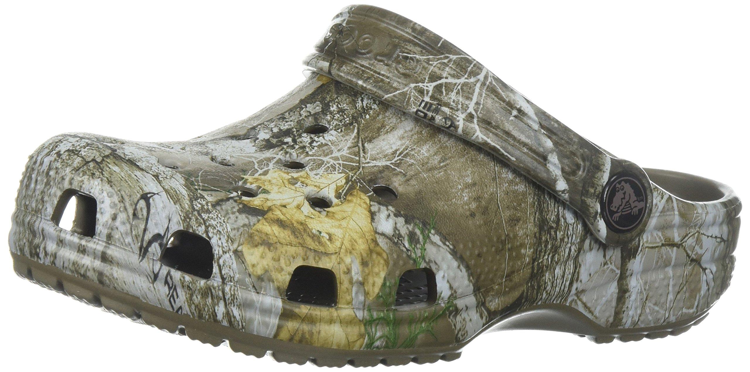 Crocs Kids' Classic Realtree Edge Clog, Walnut, 13 M US Little Kid