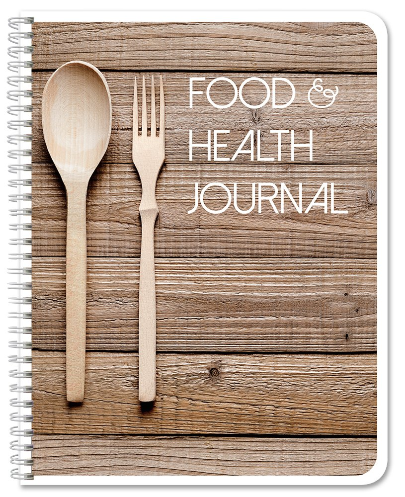 BookFactory Food and Health Journal/Food Diary/Fitness Journal Notebook, 186 Pages - 8 1/2'' x 11'' Durable Thick Translucent Cover, Wire-O Binding (JOU-186-7CW-(FoodJournal))