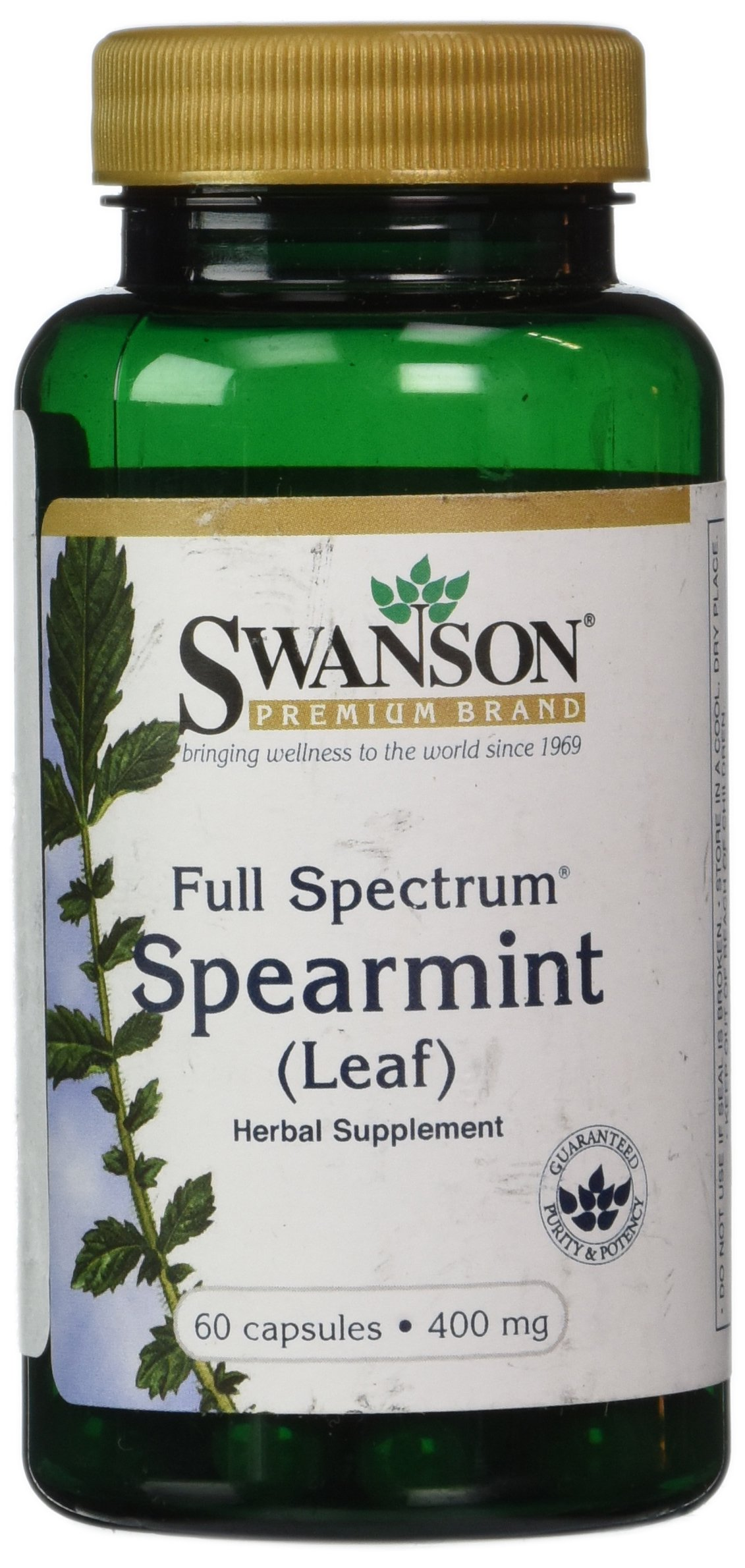 Swanson Full Spectrum Spearmint Leaf 400 mg 60 Caps