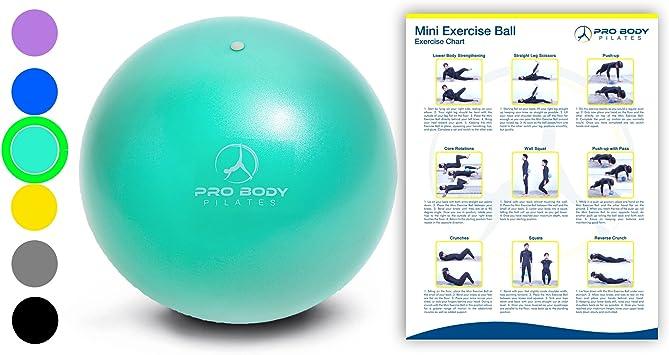 ProBody Pilates Mini Pelota de Ejercicio - 9 Pulgadas pequeña ...