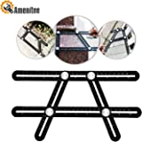 Amenitee Universal Angularizer Ruler - Full Metal Multi Angle Measuring Tool-Ultimate Angleizer Template Tool-Upgraded Aluminum Alloy Multi Functional Ruler(Black)