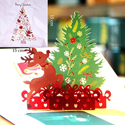 Amazon.com : CHITOP 3D Pop Up Greeting Cards With Envelope ...