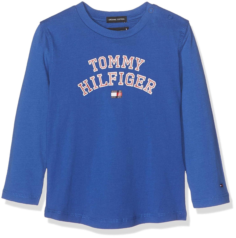 Tommy Hilfiger Baby-Jungen Langarmshirt Essential Tee L/S Blau (Black Iris 002) 86 KB0KB04432