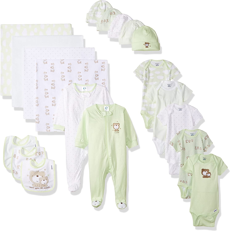 GERBER Baby Boys 19-Piece Essentials Gift Set