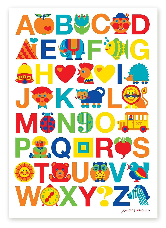 ByGraziela Kinderzimmer Poster: ABC Alphabet Poster 50x70cm: Amazon.de: Baby