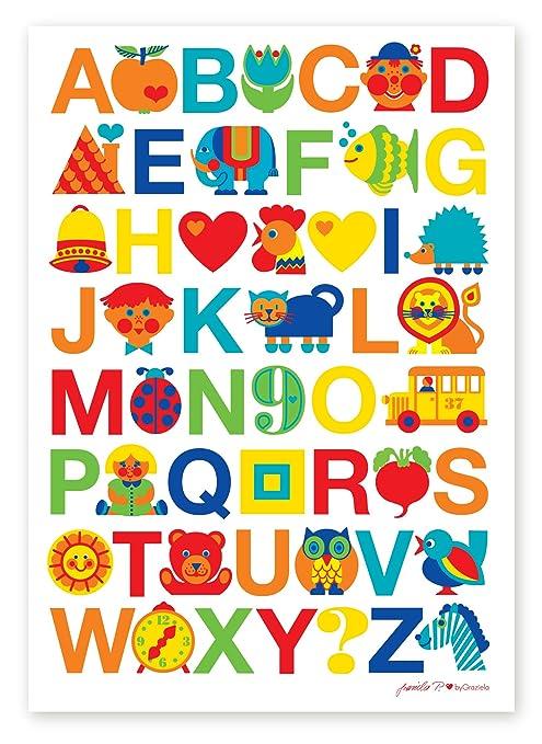 ByGraziela Kinderzimmer Poster: ABC Alphabet Poster 50x70cm: Amazon.de:  Küche U0026 Haushalt