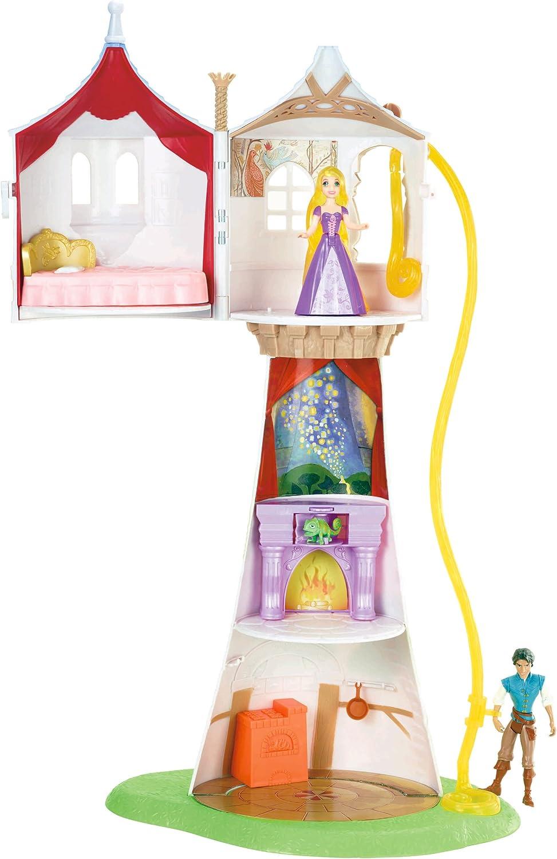 Amazon Com Mattel Disney Princess Rapunzel Tower With Flynn Playset Toys Games