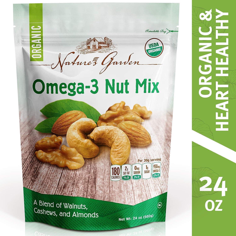 Nature's Garden Organic Omega-3 Nut Mix (24 Oz (1.5 Lbs), 24 Oz