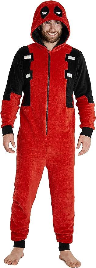 Deadpool Pijama Entero Hombre, Pijama Mono Hombre con Capucha ...