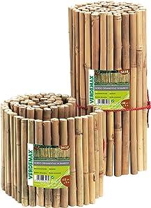Verdemax 3428 1 m x 30 cm Ornamental Bamboo Border - Natural