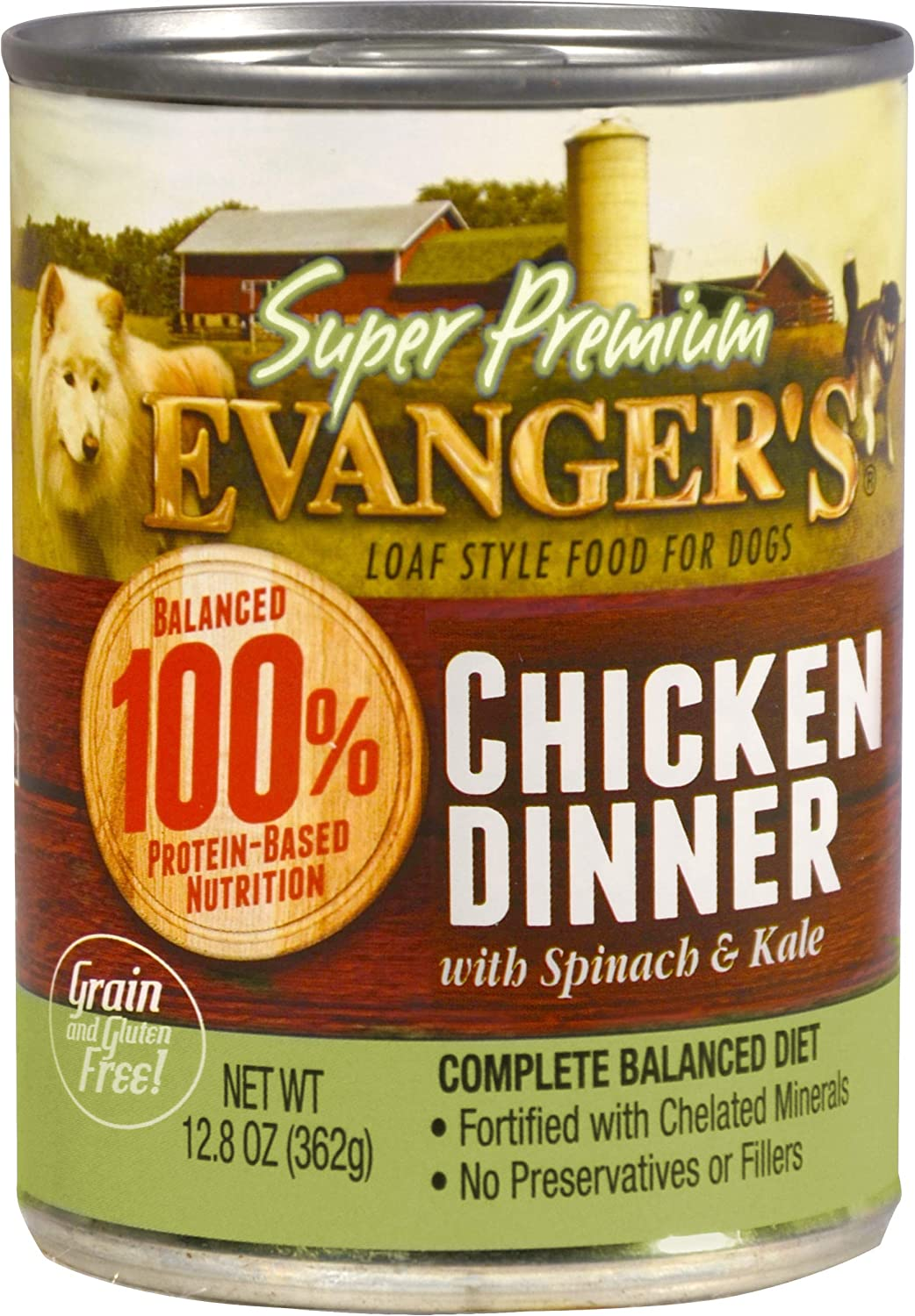 Evanger S Super Premium For Dogs Cooked Chicken Dinner With Chunks, 12-Pack