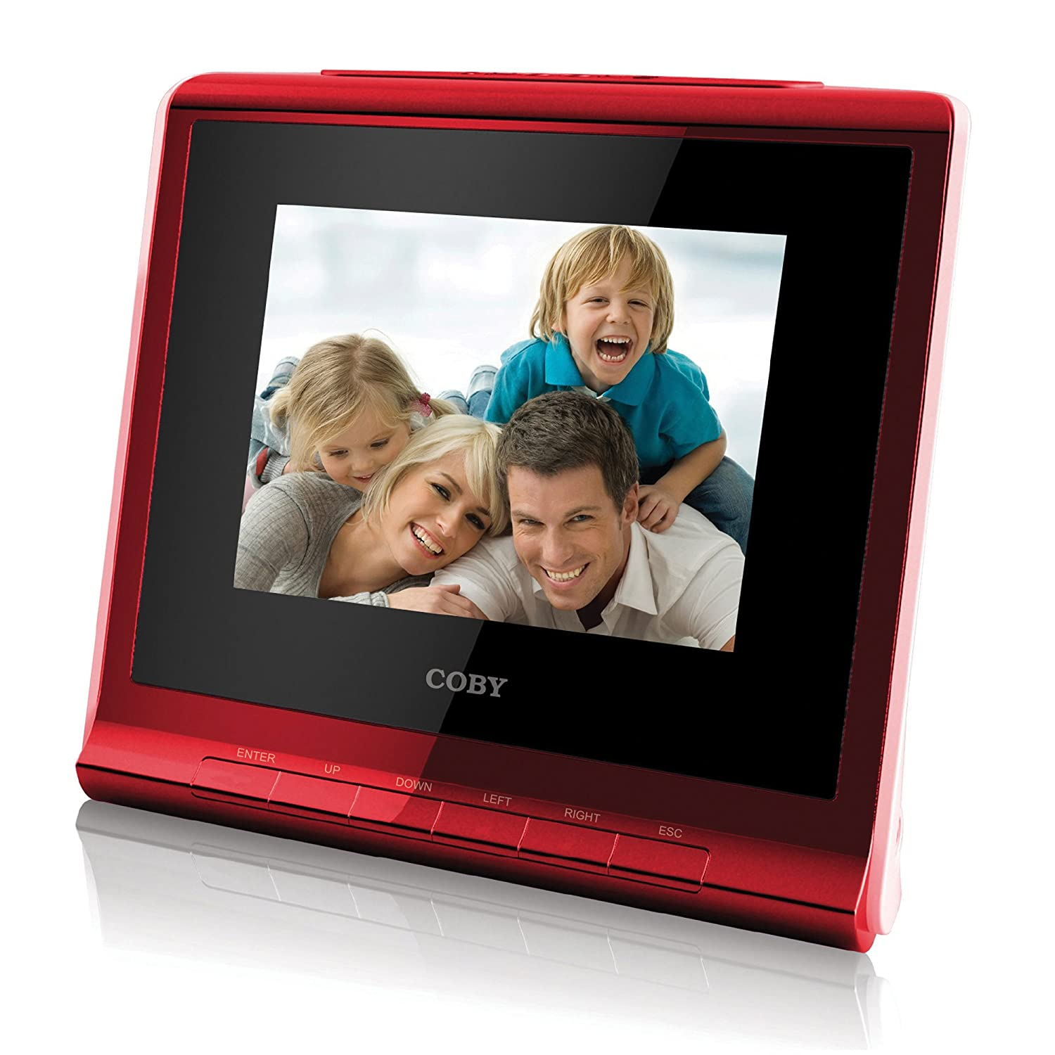 Coby DP356RED 3.5-Inch Digital Photo Frame with Alarm Clock, Red Coby Electronics - Canada