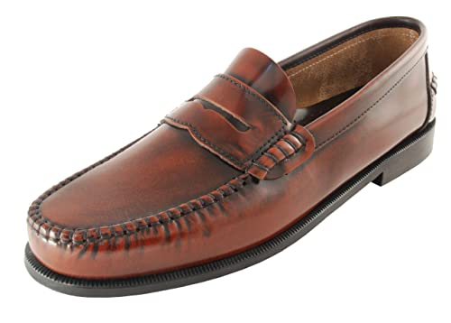 Komo2Flex - Mocasines piel vestir hombre con adorno antifaz, talla 45, color marron: Amazon.es: Zapatos y complementos