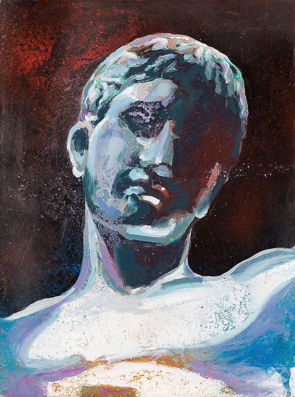 Cabeza Romana IV Pintura Original Hecha A Mano