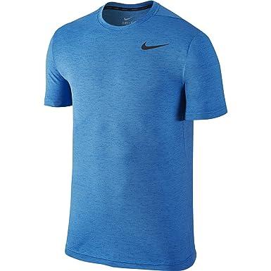 950005d09b Nike Men's Dri-FIT Training Shirt, Light Photo Blue/Black SM at ...
