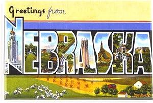 Greetings from Nebraska Fridge Magnet (2 x 3 inches) style B