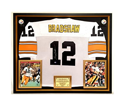 reputable site 9c56c badeb Premium Framed Terry Bradshaw Autographed/Signed Pittsburgh ...
