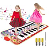 RenFox Kids Musical Piano Mat - Duet Keyboard Play Mat 20 Keys Floor Piano with 8 Instrument Sound, 5 Paly Modes Dance…
