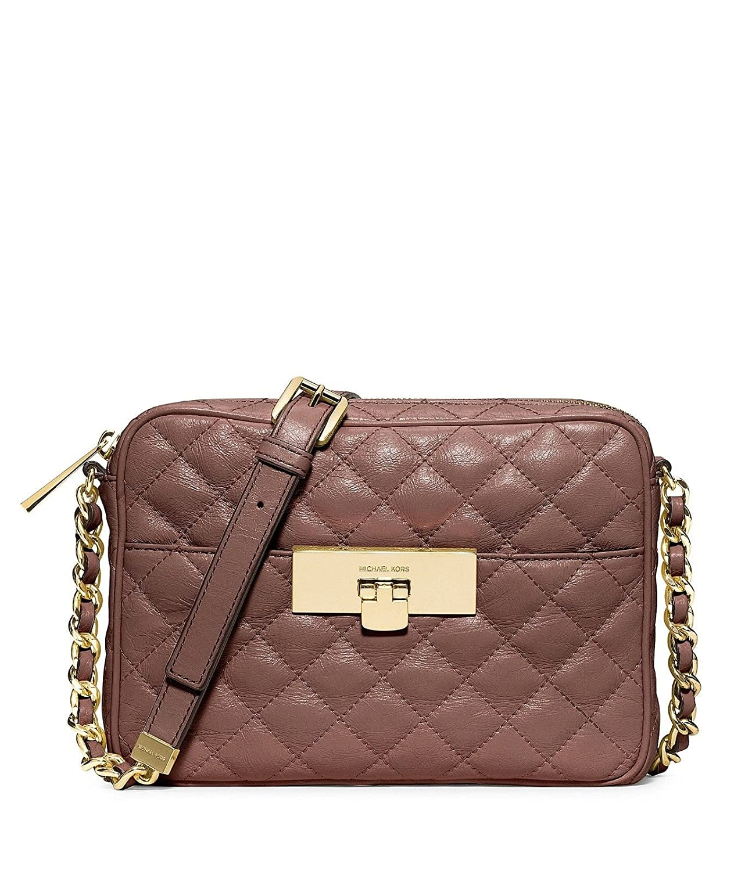 fb2ee3d74622 Michael Kors Susannah Lock Bag Messenger Purse Dusty Rose  Handbags   Amazon.com