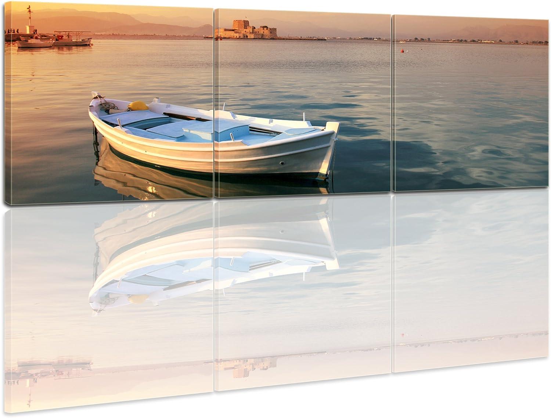 Bilderdepot24 Bastidor Imagen - Cuadros en Lienzo Barco de Pesca ...