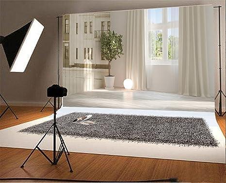 . Amazon com   Laeacco 10x6 5ft Vinyl Photography Backdrop Empty Room