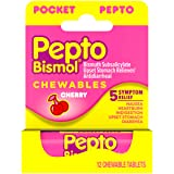 Pepto-Bismol To-Go Chewable Tablets Cherry - 12 ct, Pack of 4