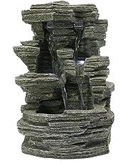 Zen Light Grand Canyon SCFR150 Water Feature Nature, Grey Stone, 19 x 16 x 28 cm