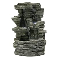 Zen Light Grand Canyon SCFR150 Water Feature Nature, Grey Stone, 19 x 16 x 28 cm