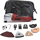 WORKSITE DMT123 Multi-Purpose Oscillating Tool Kit with Carbide Grout Blade, Half Moon Saw Blade, Triangular Carbide Grit Ras