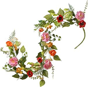 White jasmine Garland Flower Garlands decoration Indian Wedding Party Christmas Decor Flowers 5 Feet Long 10 pieces.