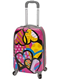 Rockland Luggage 20 Inch Polycarbonate Carry On Luggage, Love, One Size