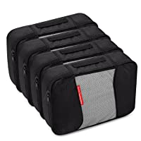Amazon.com deals on 4 Medium Packing Cubes Travel Luggage Organizers