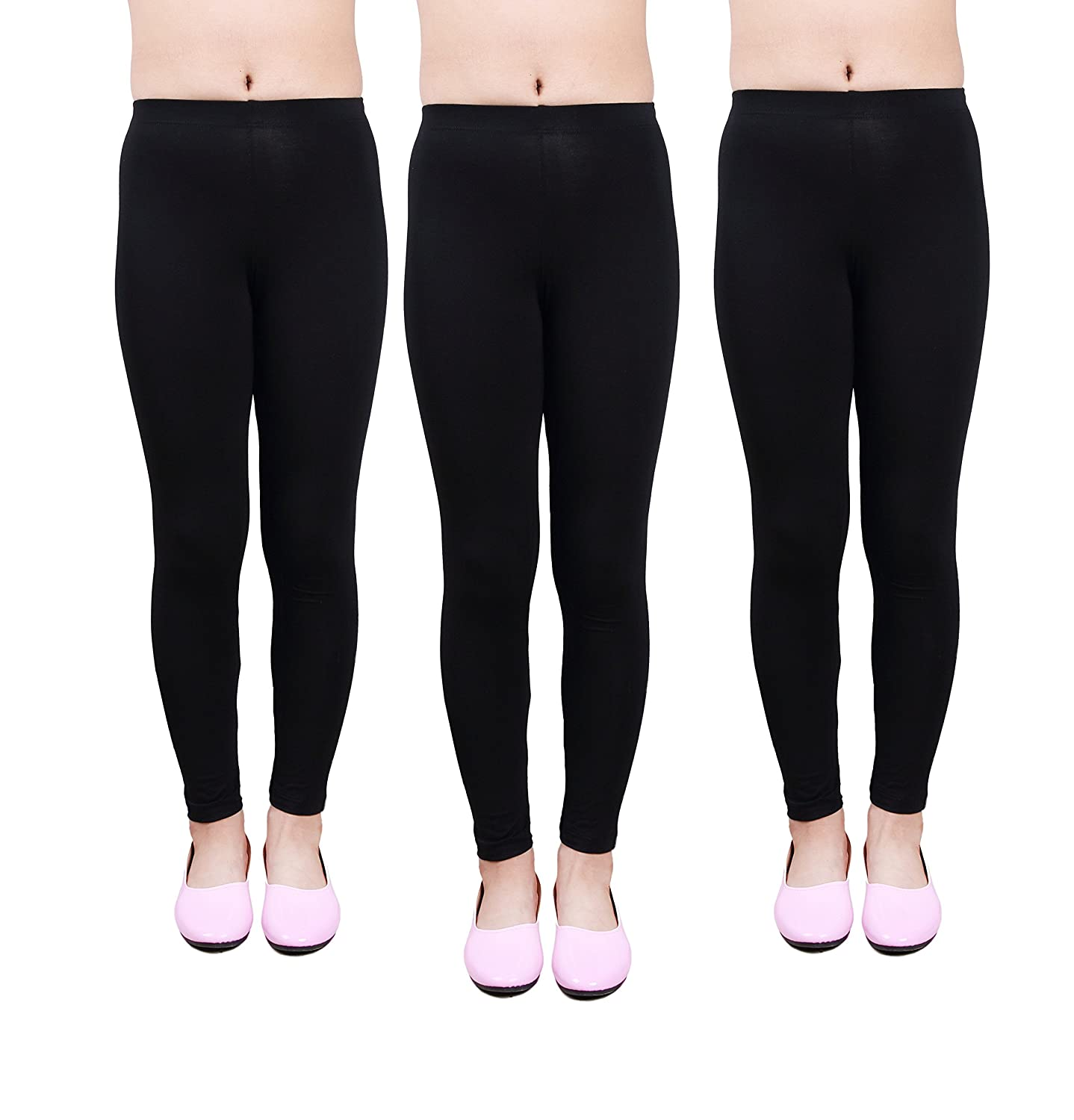 IRELIA Girls Leggings 3 Pack Modal Solid Size 4-16 Spring//Fall